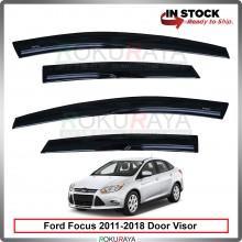 Ford Focus Hatchback (3rd Gen) 2011-2018 Mugen Curve Door Visor Air Press Wind Deflector (8cm Width)