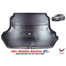 Proton Saga ( 3rd Gen ) 2016 VVT Custom Fit Original PE Non Slip Rear Trunk Boot Cargo Tray