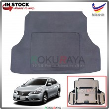 Nissan Sylphy B17 (3rd Gen) Custom Fit 15mm Rear Bonnet Spare Tyre Tire Tayar Cover Back Hard Board Papan (Carpet Wrapped)