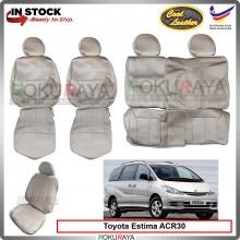 Toyota Estima Previa ACR30 Cool Leather Coolmax Custom Fitting Cushion Cover Car Seat (BEIGE)