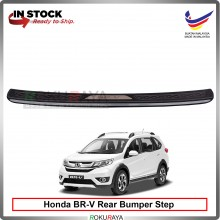 Honda BRV BR-V [CHROME STAINLESS STEEL] Custom Fit  ABS Car Rear Bumper Step Scratch Guard Garnish Protector