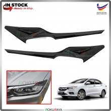 Honda City Facelift (6th Gen) 2017-2020 Custom Fit ABS Plastic Car Head Lamp  Eye Lid Brow Cover