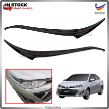 Toyota Yaris Vios Facelift 2019 Custom Fit ABS Plastic Car Head Lamp  Eye Lid Brow Cover