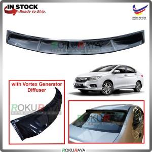 Honda City (6th Gen) 2014-2019 Rear Wing Spoiler Visor Windscreen Sun Shade (Vortex Generator Diffuser)