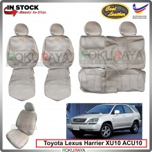 Toyota Harrier XU10 ACU10 Cool Leather Coolmax Custom Fitting Cushion Cover Car Seat (BEIGE)