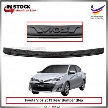 Toyota Vios Facelift 2019 Custom Fit Original ABS Car Rear Bumper Step Scratch Guard Garnish Protector (CHROME LINING)