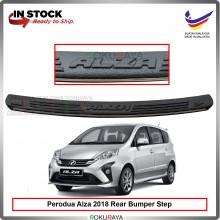 Perodua Alza Facelift 2018 Custom Fit Original ABS Car Rear Bumper Step Scratch Guard Garnish Protector (CHROME LINING)