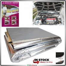 [80cm x 125cm] METALLIC Universal Carfit Bonnet Trunk Boot Deadening Sound Proof Heat Insulation Mat