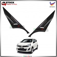 Perodua Axia G E spec 2014-2016 Custom Fit ABS Plastic Car Head Lamp  Eye Lid Brow Cover