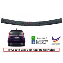 Perodua Myvi ( 2nd Gen ) 2011 Lagi Best Custom Fit Original ABS Car Rear Bumper Step Scratch Guard Garnish Protector