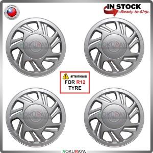 [PERODUA VIVA R12] 4in1 Universal R12'' Inch Car Wheel Cover Tyre Center Hub Cap Steel Rim