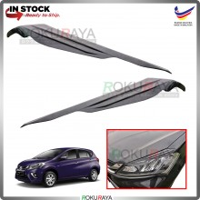 Perodua Myvi VVTi (3rd Gen) Custom Fit ABS Plastic Car Head Lamp  Eye Lid Brow Cover
