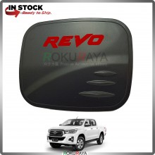 Toyota Hilux Revo Rocco Rogue Fuel Gas Tank Cap Trim Cover (Matt Black)