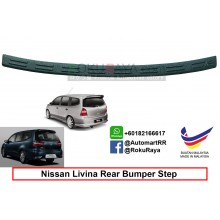 Nissan Grand Livina  Custom Fit Original ABS Car Rear Bumper Step Scratch Guard Garnish Protector