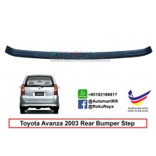 Toyota Avanza ( 1st Gen ) 2003-2011  Custom Fit Original ABS Car Rear Bumper Step Scratch Guard Garnish Protector