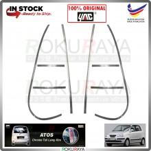 [SILVER] Hyundai Inokom Atos Prima YAC ABS Plastic Rear Tail Lamp Garnish Moulding Cover Car Accessories Parts