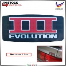 Evo III Evolution 3 Three Automobile Car Rear Back Emblem Logo Chrome Badge Car Accessories Parts