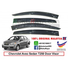 Chevrolet Aveo Sedan ( 1st Gen ) 2008-2011 T250 AG Door Visor Air Press Wind Deflector (Big 12cm Width)