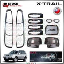 [CHROME] Nissan X Trail T30 DLAA 11PCS Signal Fuel Cap Side Mirror Door HandleHead Tail Lamp Garnish Moulding Cover