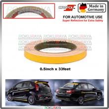[ORAFOL GERMANY] Proton Saga Iriz R3 Anniversary Edition Universal Reflective Vinyl Wrap Film Car Sticker Decal Yellow