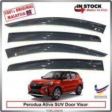 [11cm WIDTH] Perodua Ativa SUV AG Door Visor Air Press Wind Deflector Car Accessories Local Parts