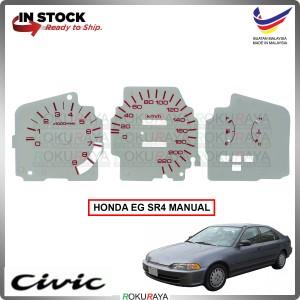 Honda EG SR4 SPOON MUGEN White Manual Meter Panel Garnish Decoration Cover Car Accessories Parts