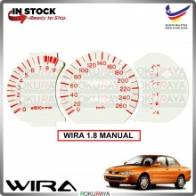 [1.8 MANUAL] Proton Wira Satria Putra C99 1.8EXI DOHC White Red Meter Panel Garnish Decoration Cover Car Accessories