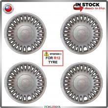 [PERODUA VIVA R12] 4in1 Universal R12'' Inch Car Wheel Cover Tyre Center Hub Cap Steel Rim Car Accessories Local Parts