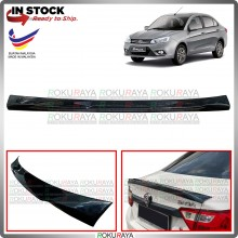 [BLACK] Proton Saga VVT 3rd Gen 2016 Ducktail ABS Plastic Rear Bonnet Trunk Boot Lip Spoiler Car Accessories Local Parts