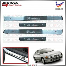 [BESI] Proton Perdana Old Stainless Steel Chrome Side Sill Kicking Plate Garnish Moulding Cover Trim Car Accessories