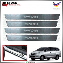 [BESI] Toyota Innova Old Stainless Steel Chrome Side Sill Kicking Plate Garnish Moulding Cover Trim Car Accessories