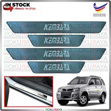 [BESI] Perodua Kembara Stainless Steel Chrome Side Sill Kicking Plate Garnish Moulding Cover Trim Car Accessories
