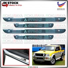 [BESI] Mitsubishi Storm L200 Stainless Steel Chrome Side Sill Kicking Plate Garnish Moulding Cover Trim Car Accessories