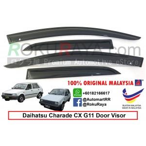 Daihatsu Charade CX (2nd Gen) G11 1983-1987 AG Door Visor Air Press Wind Deflector (Small 7cm Width)