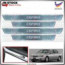 [BESI] Nissan Cefiro Maxima A33 Stainless Steel Chrome Side Sill Kicking Plate Garnish Moulding Cover Trim Car
