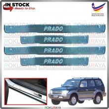 [BESI] Lancruiser Prado J90 Stainless Steel Chrome Side Sill Kicking Plate Garnish Moulding Cover Trim Car Accessories