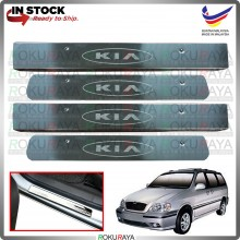 [BESI] Naza Ria Kia Carnival Stainless Steel Chrome Side Sill Kicking Plate Garnish Moulding Cover Trim Car Accessories