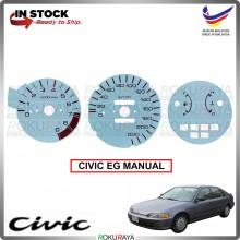 Honda Civic EG SR3 SR4 SPOON MUGEN White MANUAL Meter Panel Garnish Decoration Cover Car Accessories Parts