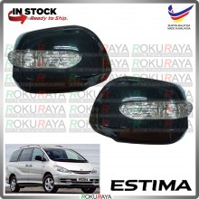 [BLACK] Toyota Previa Estima ACR30 ACR40 Side Door Mirror Cover With Crystal LED Signal Light Lamp Car Accessories Parts