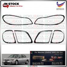 [CHROME] Nissan Cefiro Maxima A33 WELLSTAR ABS Plastic Rear Tail Front Head Lamp Garnish Moulding Cover Trim Car