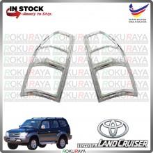 [CHROME] Land Cruiser Prado J90 WELLSTAR ABS Plastic Rear Tail Lamp Garnish Moulding Cover Trim Car Accessories Parts