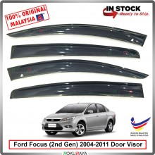 Ford Focus Sedan Hatchback (2nd Gen) 2004–2011 AG Door Visor Air Press Wind Deflector (Small 7cm Width)