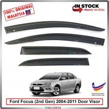 Ford Focus Sedan Hatchback (2nd Gen) 2004–2011 AG Door Visor Air Press Wind Deflector (Small 7cm Width)