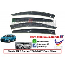 Ford Fiesta Sedan MK7 ( 6th Gen ) 2008-2017 AG Door Visor Air Press Wind Deflector (Big 12cm Width)