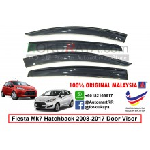 Ford Fiesta Hatchback MK7 ( 6th Gen ) 2008-2017 AG Door Visor Air Press Wind Deflector (Big 12cm Width)