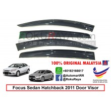 Ford Focus Sedan Hatchback ( 3rd Gen ) 2011 AG Door Visor Air Press Wind Deflector (Big 12cm Width)