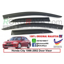 Honda City SX8 ( 3rd Gen ) 1996–2002 AG Door Visor Air Press Wind Deflector (Small 7cm Width)