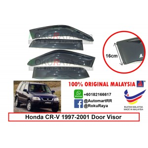 Honda CR-V CRV RD1-RD3 ( 1st Gen ) 1997–2001 AG Door Visor Air Press Wind Deflector (Extra Big 16cm Width)