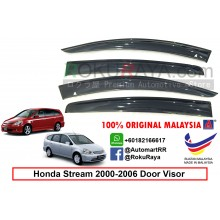 Honda Stream ( 1st Gen ) 2000–2006 AG Door Visor Air Press Wind Deflector (Big 12cm Width)