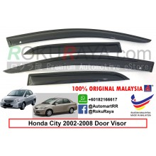 Honda City ( 4th Gen ) 2002–2008 AG Door Visor Air Press Wind Deflector (Small 7cm Width)
